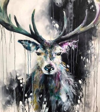 Limited edition stag from katy dobson