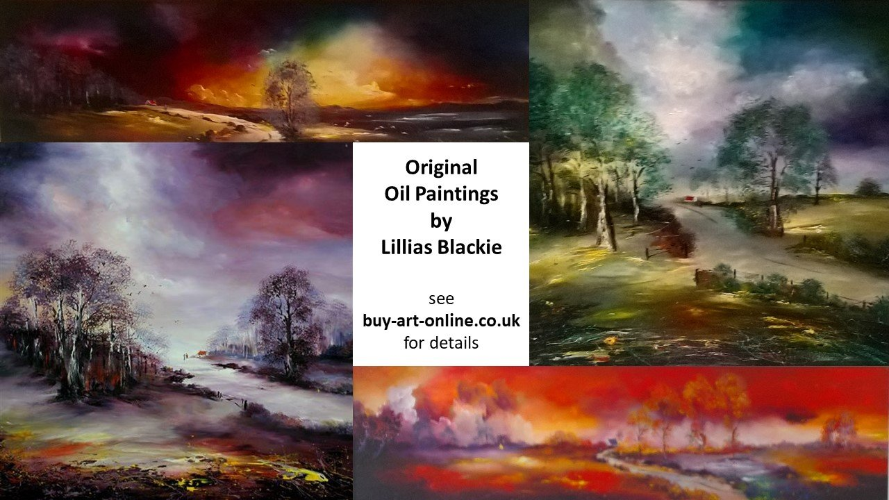 Landscape original oil paintings by Lillias Blackie