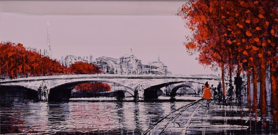 A Walk Along the Seine by Nigel Cooke