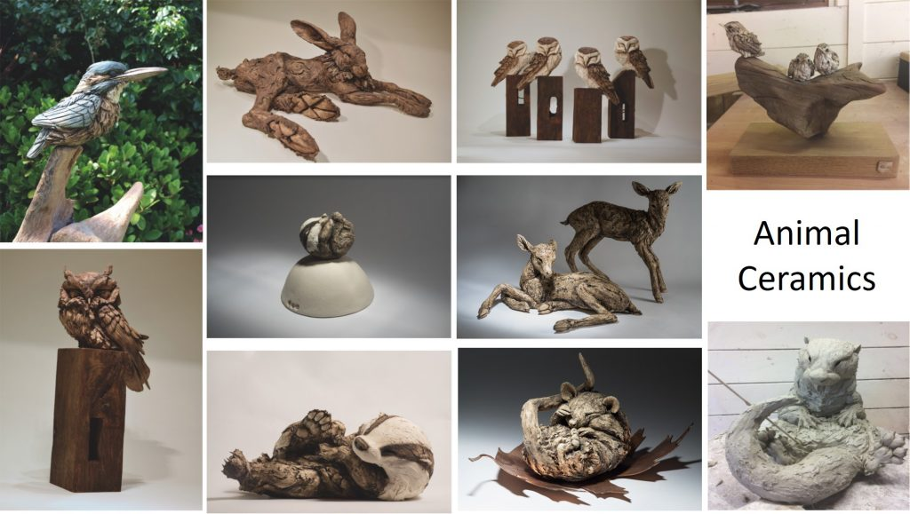 Ceramic sculptures by Felicity Lloyd Coombe