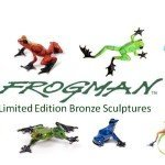 Bronze sculptures by the Frogman