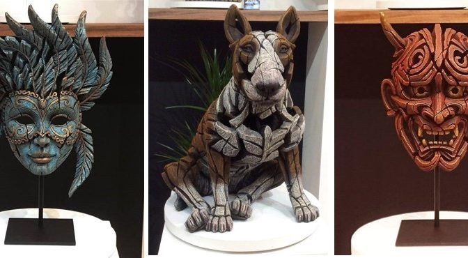 New ! Bull Terriers and Masks from Edge Sculpture