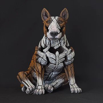 New Bull Terrier Sculpture, Venetian Carnival and Japanese Hannya Masks