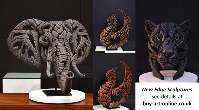 New from Edge Sculpture – African Elephant, Panther and Heraldic Dragons